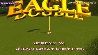 Golden Tee Great Shot on Highland Links!