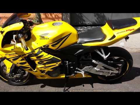 Honda Cbr 600 Rr 2006 Yellow with black flames