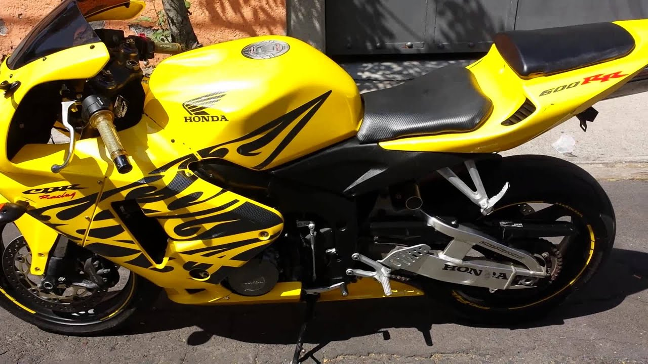 Honda Cbr 600 Rr 2006 Yellow with black flames - YouTube