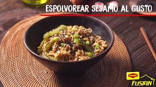 Receta de yakisoba con verduras y huevo - Recetas Maggi