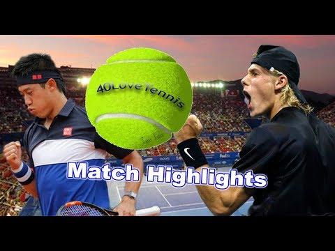 Kei Nishikori vs Denis Shapovalov ACAPULCO 2018 R1
