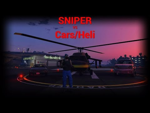 Sniper vs Cars and other vehicles GTA 5 Online