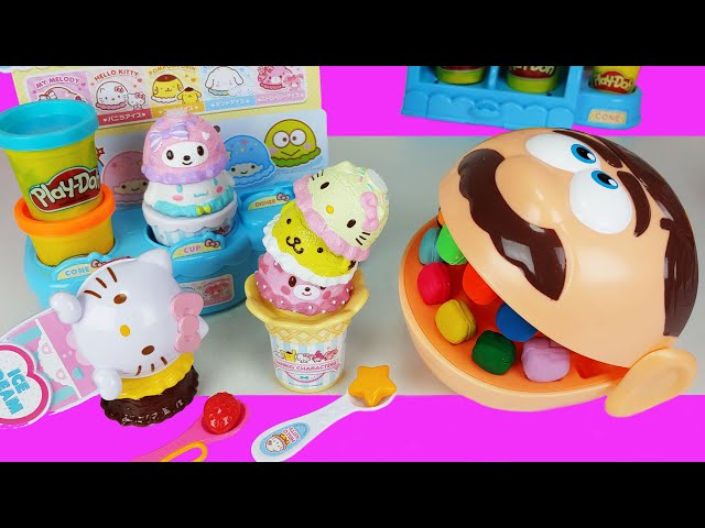 kitty Ice Cream shop and Play Doh Dentist Doctor Drill toys Baby doll play  story - ToyMong TV 토이몽