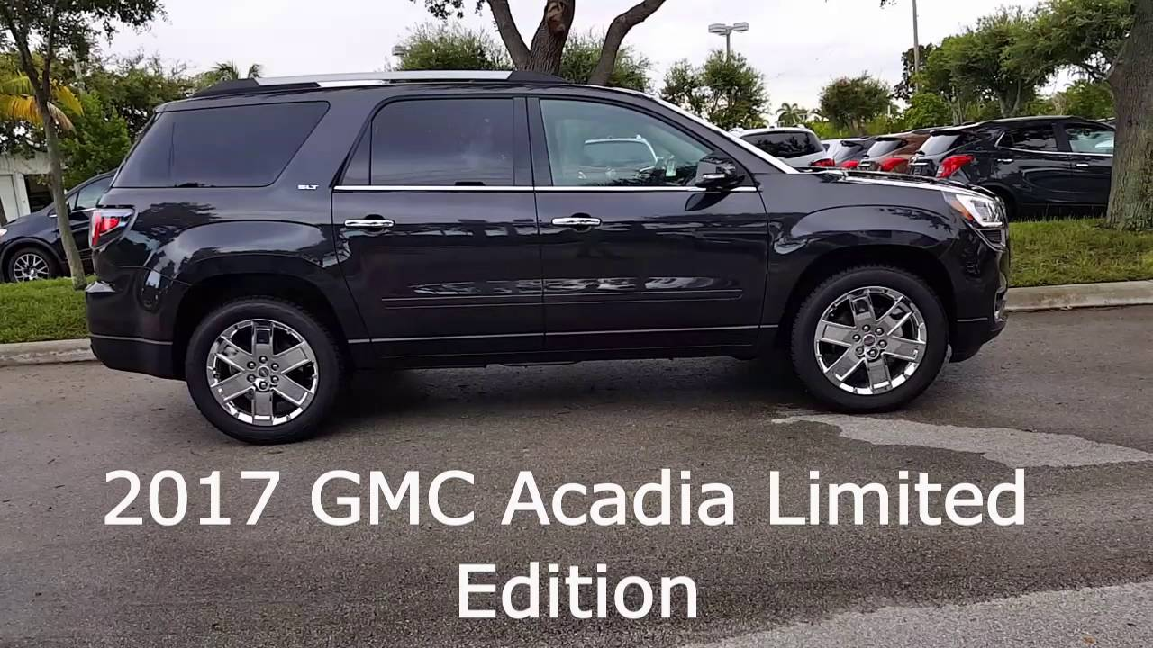 2017 gmc acadia limited edition youtube. Black Bedroom Furniture Sets. Home Design Ideas