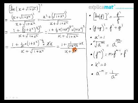 Derivada Logaritmo ln(x+sqrt(1+x^2)) Travel Video
