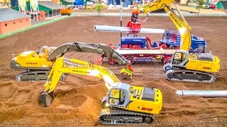RC Excavator ACTION in incredible 1/32 scale!