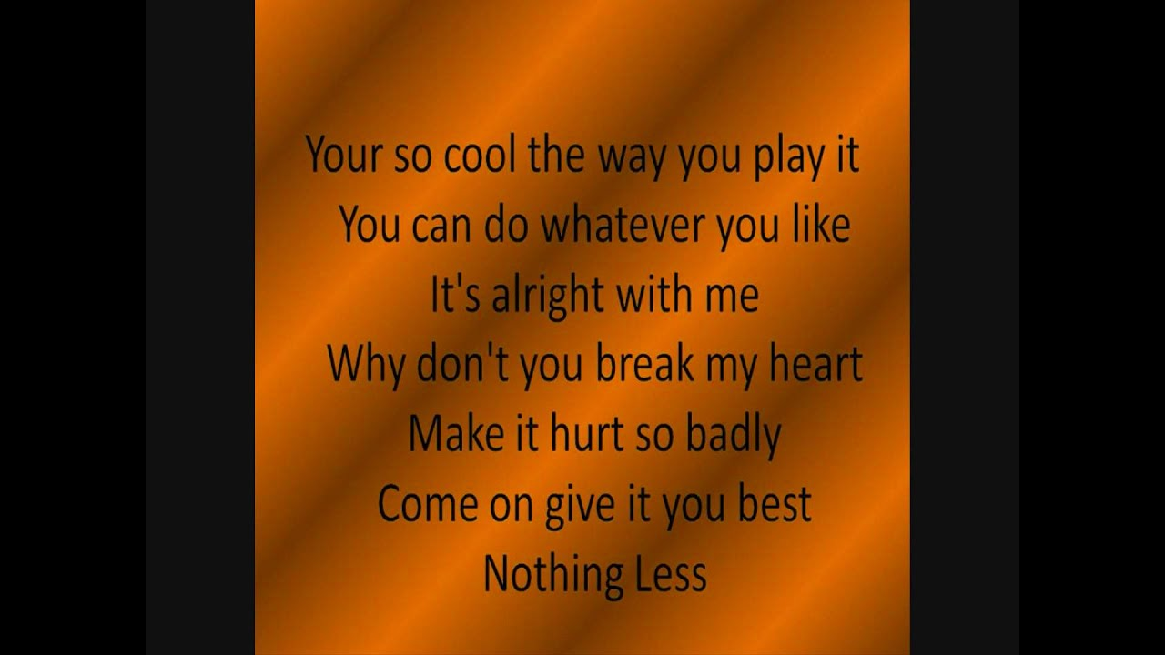 Spectacular! Break My Heart with Lyrics