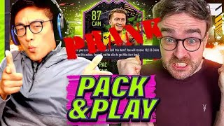 We made him discard 400,000 coins!! FIFA 21 Pack & Play PRANK on Andy!!!