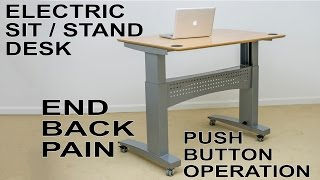 Conset 501-11 Electric Motorized Desk | Cure Back Pain