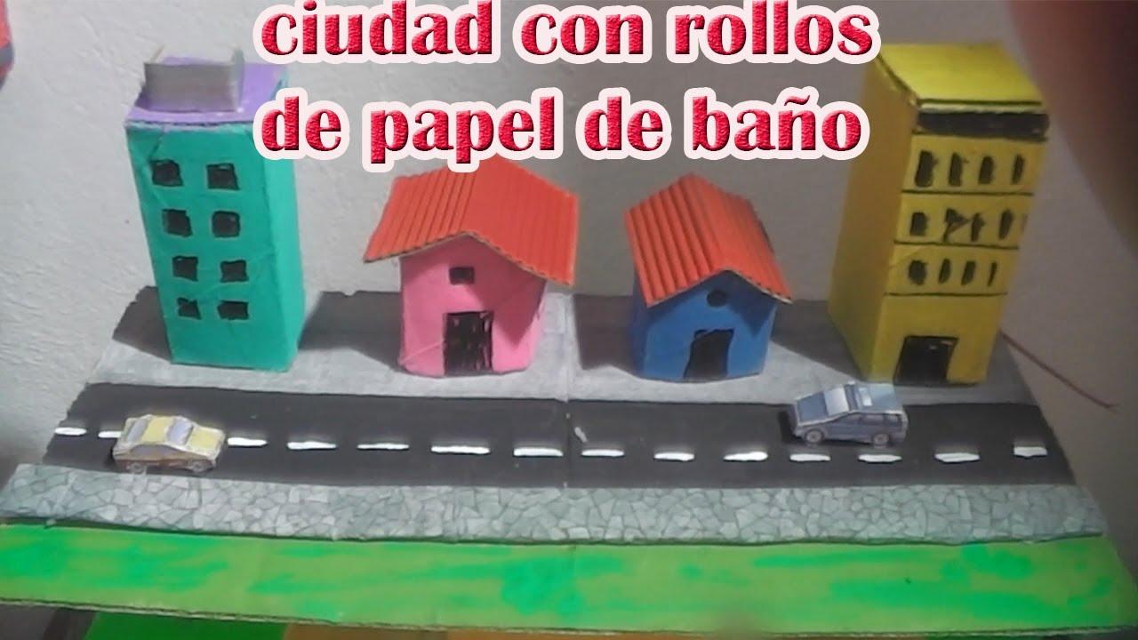Ciudad Hecha Con Rollos De Papel Higiénico Youtube
