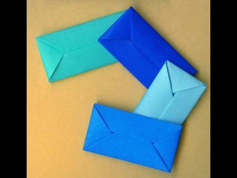 How To Make An Envelope Without Glue Or Tape. Gift wrap. Конверт ...
