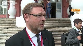 北方領土巡る維新議員の発言 ロシア上院幹部が批判(19/05/14)