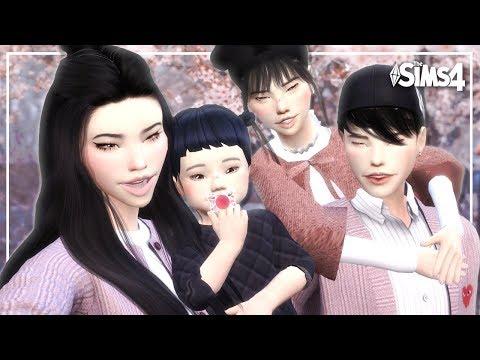The Sims 4 - Create a Sim - Família Coreana + (LISTA DE CPS DOWNLOAD) Korean Family - 동영상
