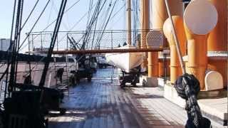 """HMS Warrior"" 1860, Ironclad Battleship of the age of Sail and Steam ""Portsmouth Historic Dockyard."""