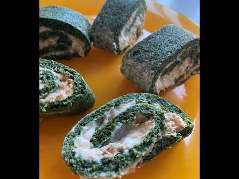 roulé-d'épinards-au-fromage-frais-et-saumon.-excellente-idée-comme-apéritif-ou-entrée-!