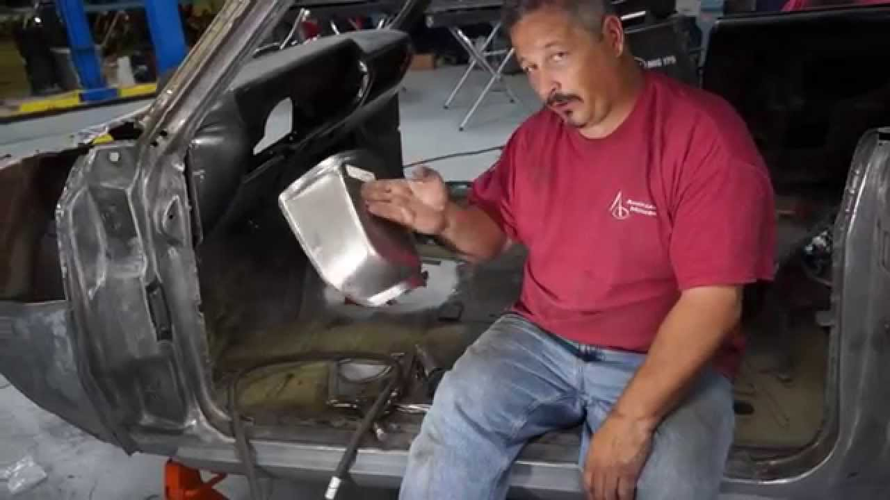 Replacing The Shifter Hump And Floor Pan In The 65 Chevy