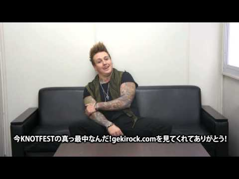 "PAPA ROACH ""KNOTFEST JAPAN 2014""-激ロック 動画メッセージ"