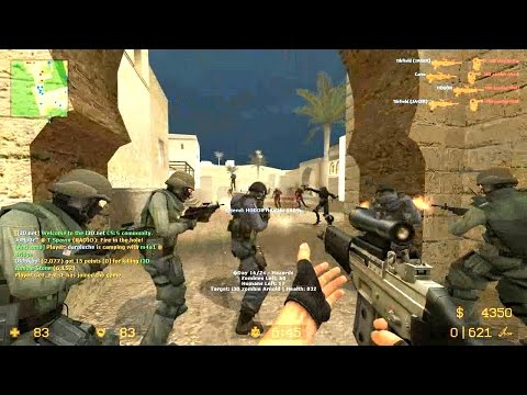 Counter Strike Source Zombie Riot Mod Online Gameplay On Dust 1 Map