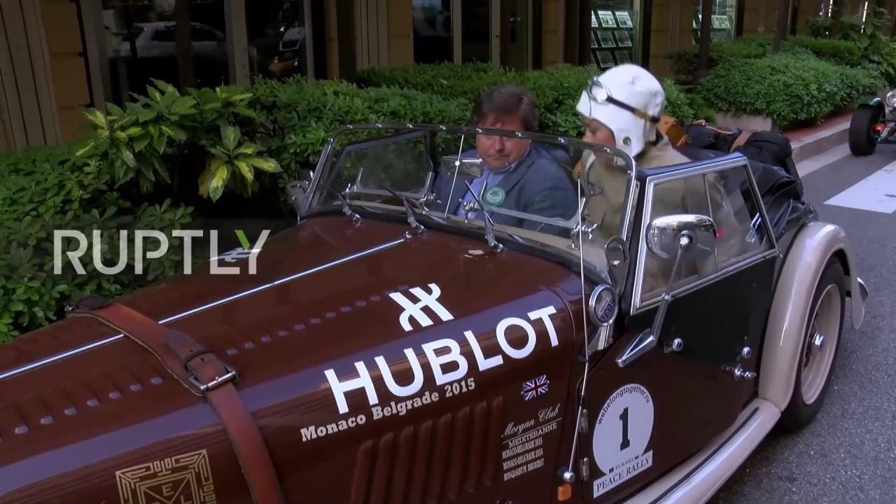 France: Vintage cars and relatives of the Tsars - aristocrats kick ...