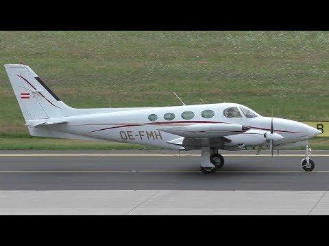 Mali Air Cessna 340A takeoff at Graz Airport | OE-FMH