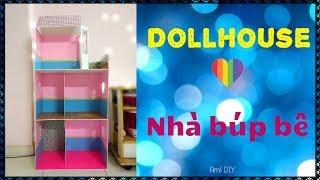 DIY How to make a Doll House / Cùng làm Ngôi nhà búp bê với chị Ami DIY