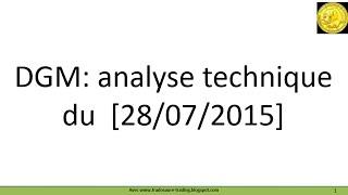 Analyse technique cours de Bourse Diagnostic Medical demandée par forum Boursorama [28-27-2015]