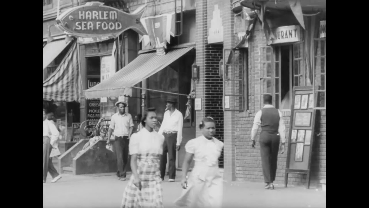 Harlem Street Scenes and Queensbridge Projects Construction 1939