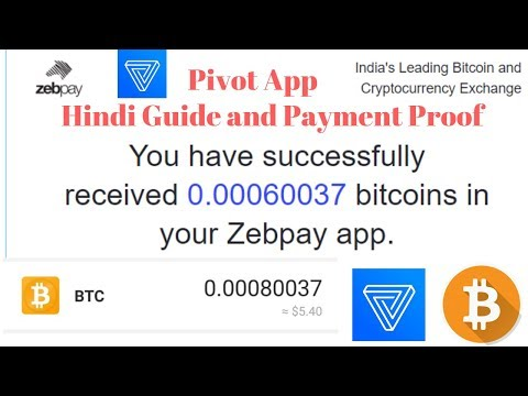 Pivot App Full Guide - Earn Free BTC Daily and Payment Proof [Hindi]