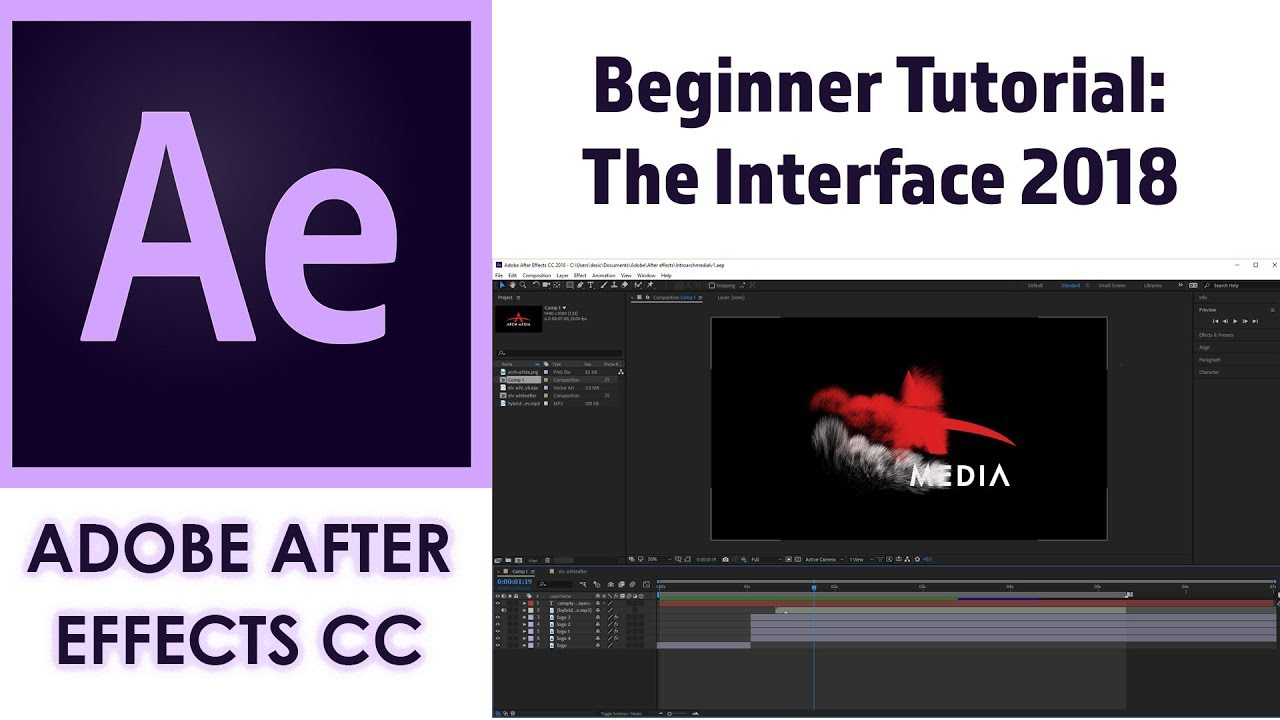 Adobe after effects cc beginner tutorial: intro guide to learn the.