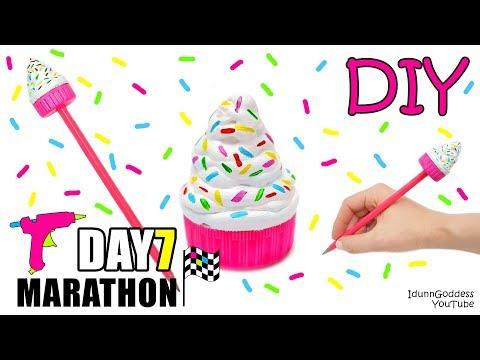 DIY Hot Glue Pencil Topper - DAY 7 of 7-Day Marathon Of Glue Gun DIYs
