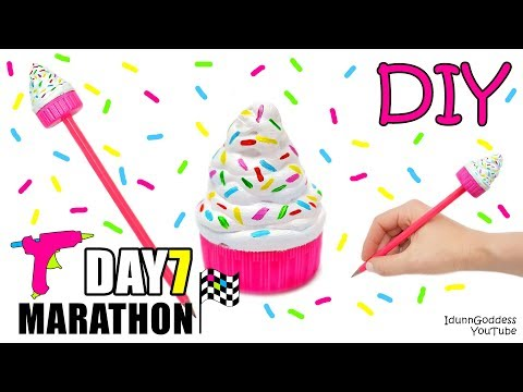DIY Hot Glue Pencil Topper - DAY 7 of 7-Day Marathon Of Glue Gun DIYs
