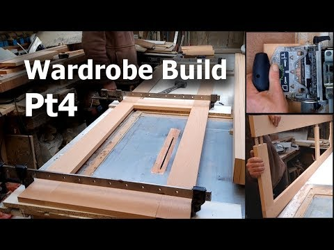 Wardrobe build pt4 - Marking & cutting the Dominos for the doors