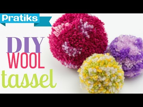 how to make a pompom or a christmas ball with yarn youtube. Black Bedroom Furniture Sets. Home Design Ideas