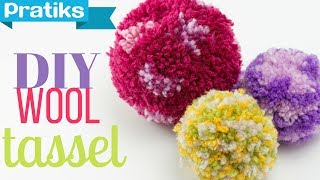 Video How to Make a Pompom or a Christmas Ball with Yarn download MP3, 3GP, MP4, WEBM, AVI, FLV Oktober 2018