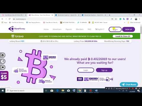 Moremoney.io Tutorial   Earn bitcoin by Faucet, PTC, Short Links and Offer walls   Payment Proof