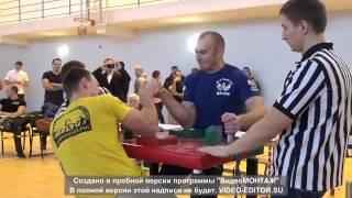 Хващевский - Дедиский финал Рождественский турнир по армрестлингу 2014