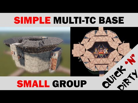 Simple, Small-Group Multi TC RUST Base Design | 35 Rockets To TC