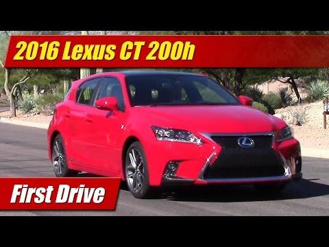 2016 Lexus CT 200h: First Drive