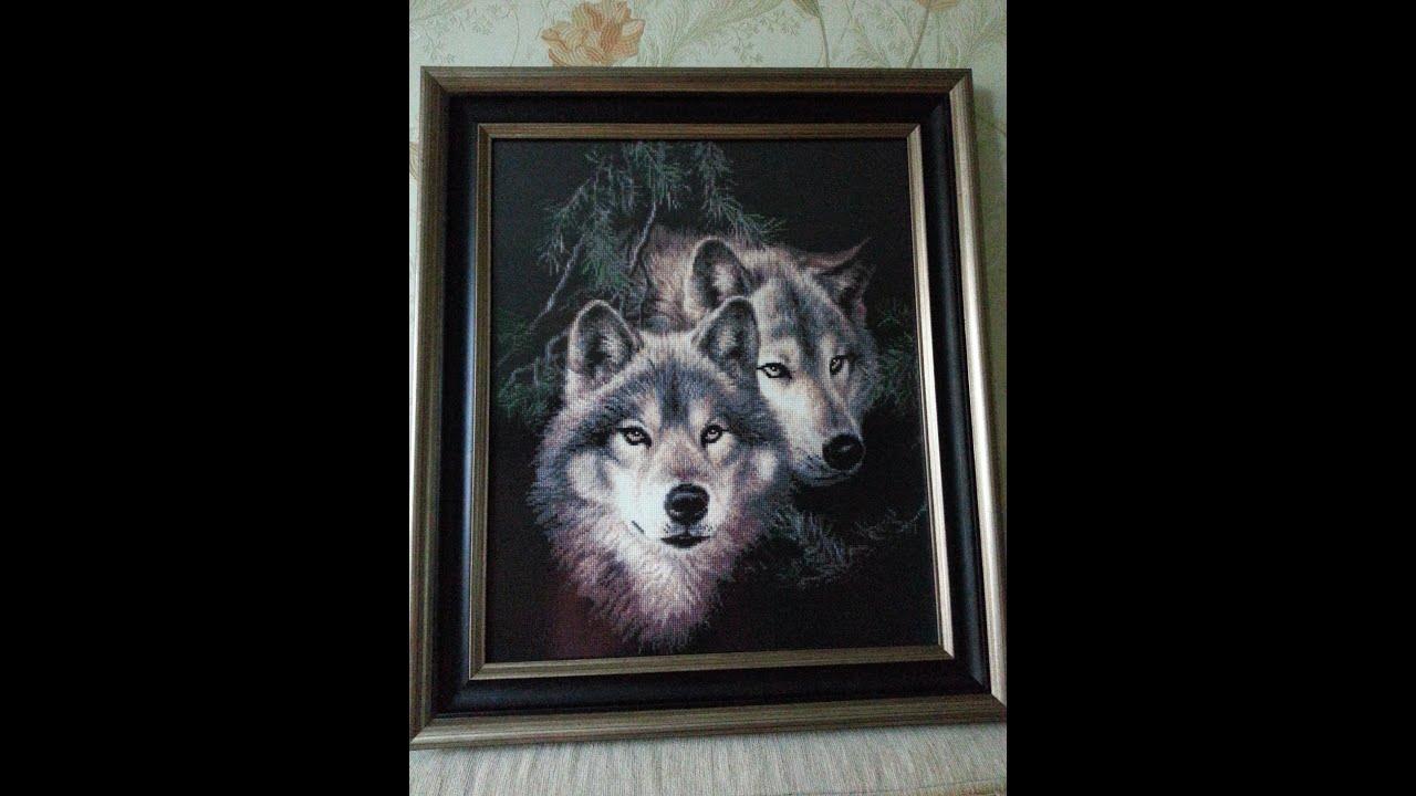 Картинки вышивки волки