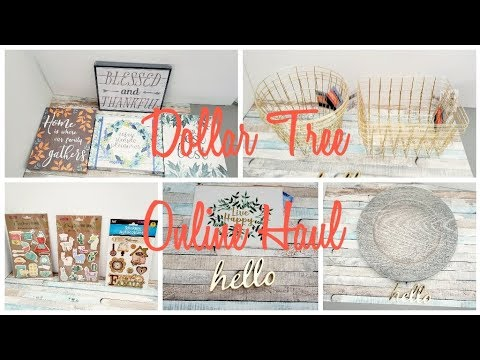 🌻DOLLAR TREE ONLINE HAUL UNBOXING~My First Experience Ordering Online Free Store Pick Up Fin