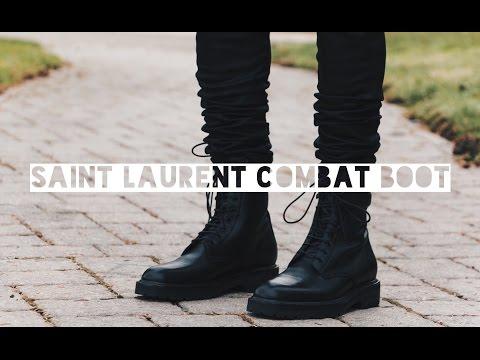 A Closer Look at: Saint Laurent Paris Combat Boot + On Feet
