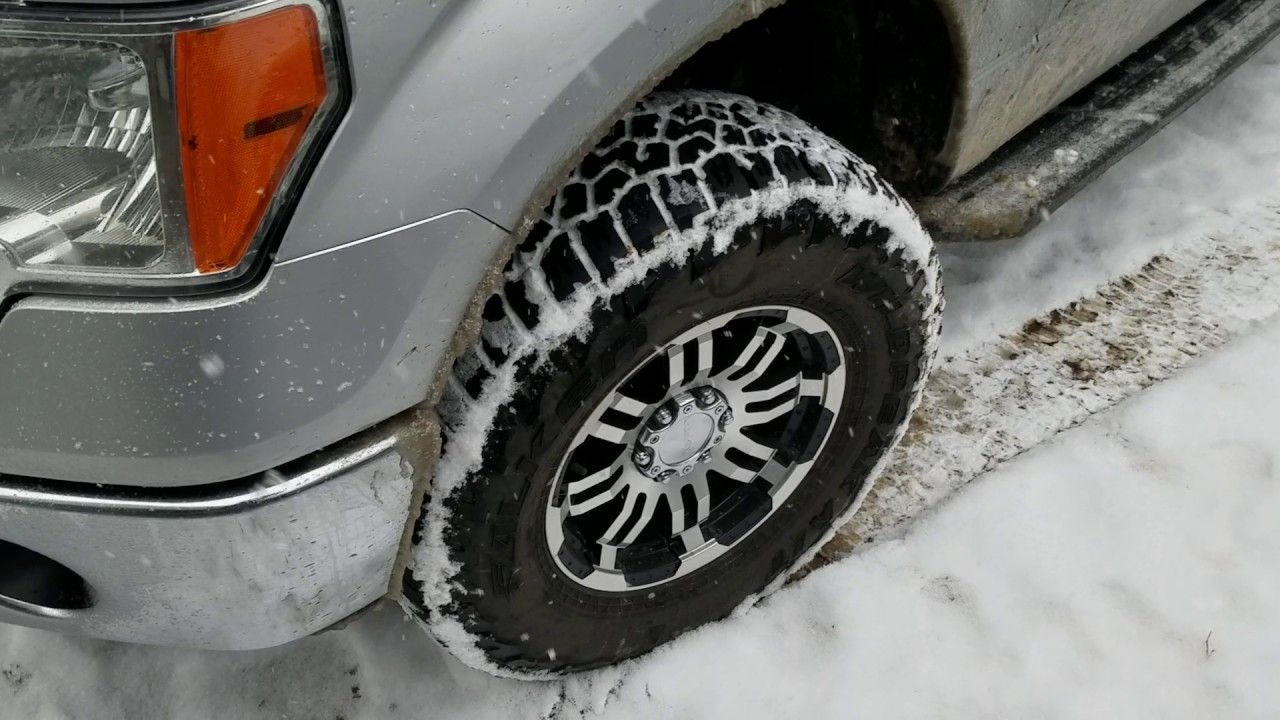 Falken Wildpeak AT3W SNOW review on F-150 - YouTube