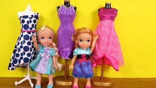 SHOPPING ! Elsa and Anna toddlers at Clothing Store - Dresses - Shoes - Purses thumbnail