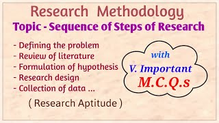 Sequence of Steps of Research, Research Aptitude