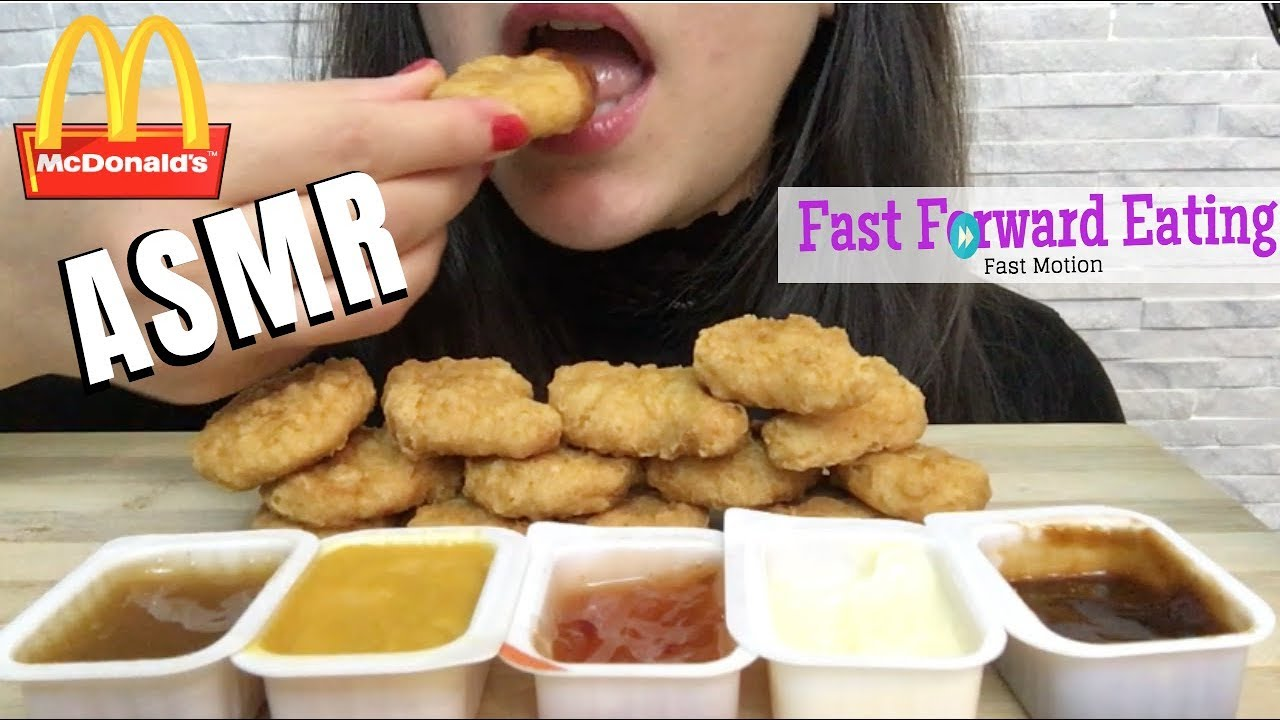 Asmr Mcdonalds Chicken Mcnuggets Fast Motion Eating Show Mukbang Soft Eating Sounds