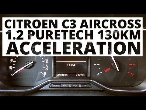 Citroen C3 Aircross 1.2 PureTech 130 KM (MT) - acceleration 0-100 km/h