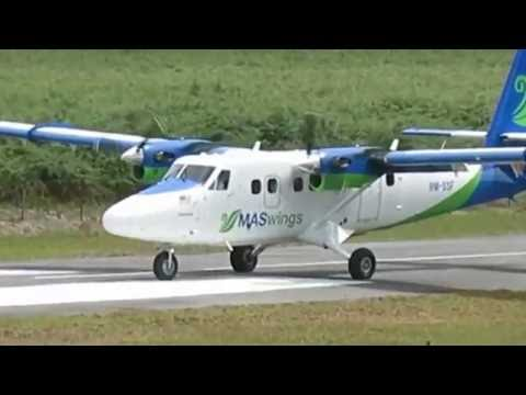 MASWings Twin Otter DHC-6 Series 400 Landing in Bario Airfield