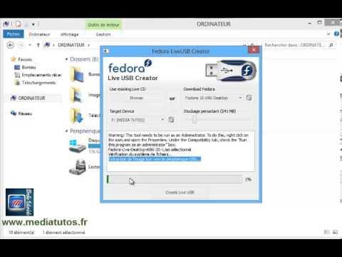Fedora live USB