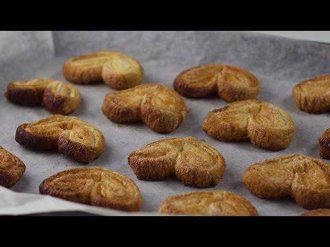 Как приготовить печенье из слоеного теста Ушки
