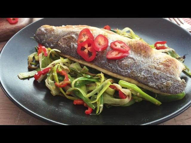 Video of Grilled Seabass and Oriental Leek Recipe